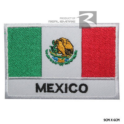 Mexico National Flag Iron on Sew on Embroidered Patch Badge For Clothes Etc