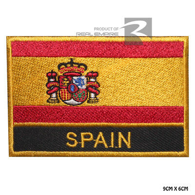 Spain National Flag Iron on Sew on Embroidered Patch Badge For Clothes Etc