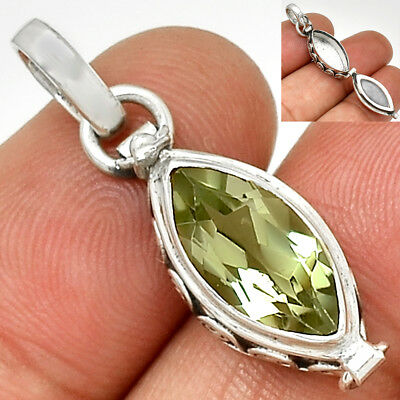 Poison - Green Amethyst 925 Sterling Silver Pendant Jewelry PP211370