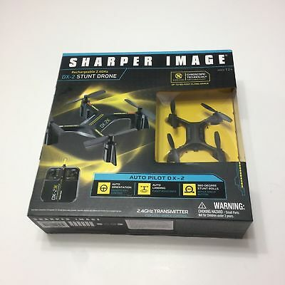 Sharper Image Drone Rechargeable Dx 2 Stunt 24 Ghz Black 150 Ft