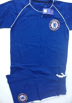 Boys and mens official licenced product chelsea football club shorty KIT pyjamas