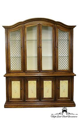 "Stanley Furniture Grand Duchess Fruitwood 67"" Lighted China Cabinet 58-11-06"