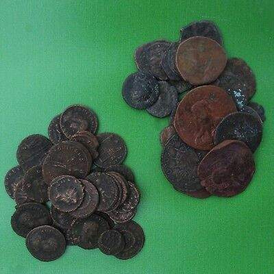 Lot of Fifty (50) Ancient Coins Including 30 Roman/ Latin Coins