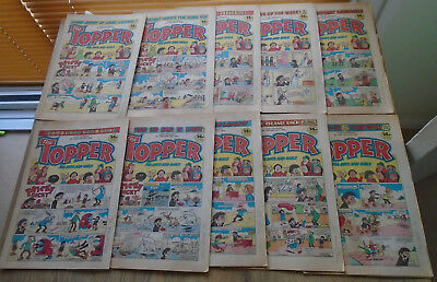 TOPPER COMICS x 10 from 1983. issues in discription