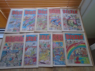 10 The Beezer comics 1990, numbers on listing