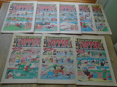 TOPPER COMICS x 8 from 1986. issues in discription