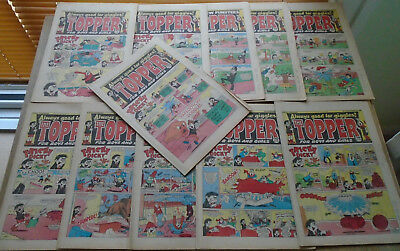 TOPPER COMICS x 11 from 1985. issues in discription