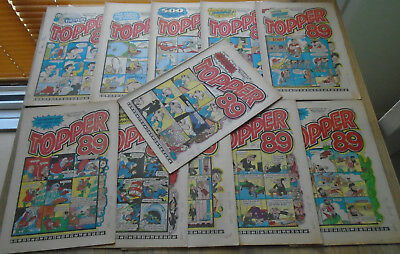 TOPPER COMICS x 11 from 1989. issues in discription