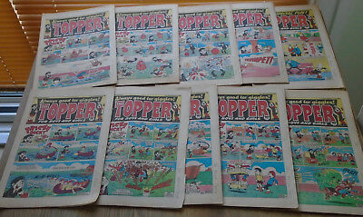 TOPPER COMICS x 10 from 1985. issues in discription