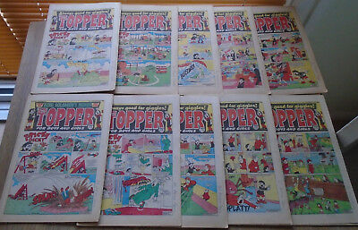 TOPPER COMICS x 10 from 1986. issues in discription