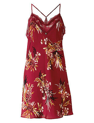 New M /& S Rosie for Autograph Pink Rose Print Chemise Nightie RRP £25 Size 8