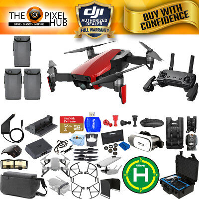 DJI Mavic Air Fly More Combo Flame Red MEGA BUNDLE with Waterproof Case + MORE