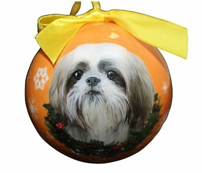 Shih Tzu (Tan Puppy) Christmas Ball Ornament Dog Holiday Xmas Pet Lovers Gift