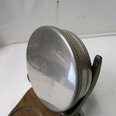 Vintage Tiffany & Co Handcrafted Pewter Monogrammed  Powder Puff