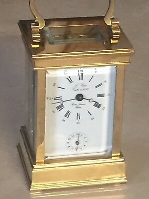 """Vintage If 1839 L' Epee """"SAINTE SUKANNE"""" French 11 Jewels 8 Day Alarm Clock"""