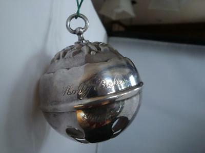 Reed & Barton Holly Bell Sleigh Bell 1998 Pre-owned- No Box