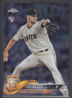 Topps - Chrome Update 2018 - Base HMT4 Tyler Beede - San Francisco Giants RC