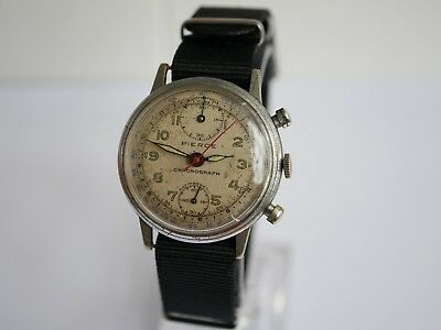 Vintage Pierce Chronograph Swiss Made Mens Watch