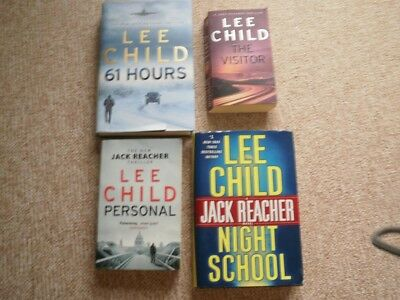 2 Lee Child Paperbacks 2 Lee Child Hard Backs/ Jack Reacher.