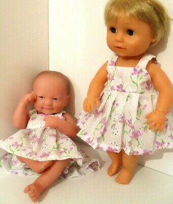 """14"""" Pinny Dress Dolls Clothes Fit  First Annabell Berenguer 34-38Cm"""