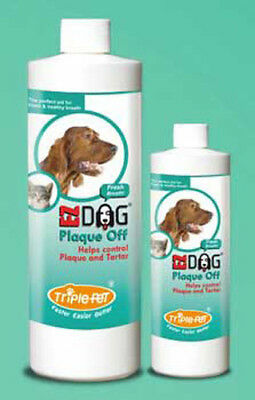Triple Pet Ezdog Plaque Off Fresh Breath For Dogs Cats & Small Mammals - 473 ml