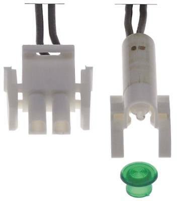 Signal Lamp with Plug Green Ø 8mm 230V Connection Plug Cable 240mm