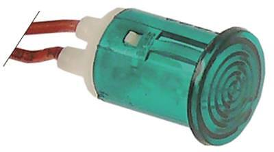 Signal Lamp Green Ø 16mm 230V Insulated Cable Silicone Cable 200mm
