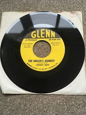 "LORENZO SMITH The Indians Monkey 7"" 1958 Funk Soul Chicago Blues RARE US COPY!!!"