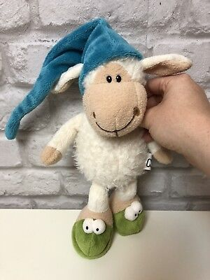 Nici Sheep / Lamb *sleepy* Soft Cuddly Toy With Hat Baby Kids Cute Gift