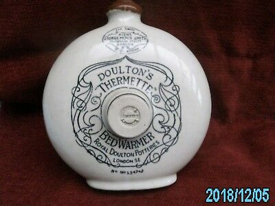 Vintage Royal Doulton Thermette Round Foot Warmer Bottle.