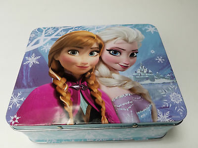 Disney Frozen Embossed Elsa and Anna Metal Lunch Box