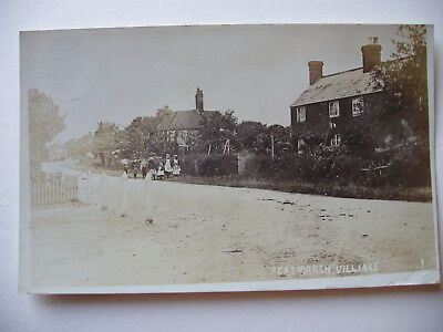 Peasmarsh Village - 1907 sepia real photograph