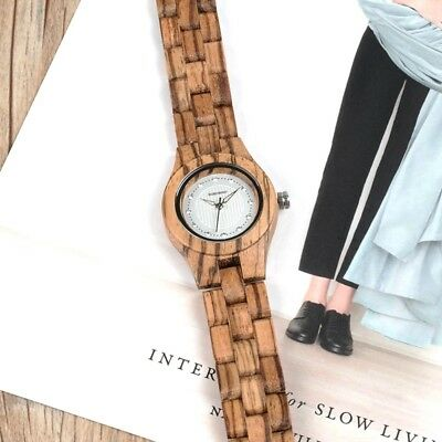 Luxury Bamboo Ladies Watch In Box Unique Women Watch with Diamond Great Gift