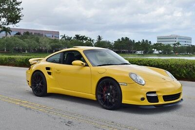2007 Porsche 911 Turbo 997/ 997.1 1 Owner-997.1 Speed Yellow COUPE-Sport Seats - Well Sorted - HRE WHEELS 6 Speed-