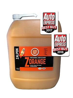 ROZALEX Zalpon ZOrange - Extra heavy-duty hand cleaner with pumice 10 ltr w/pump