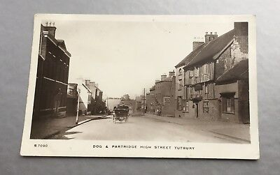Dog And Partridge High Street Tutbury Rp Postcard Publisher Kingsway.posted 191?