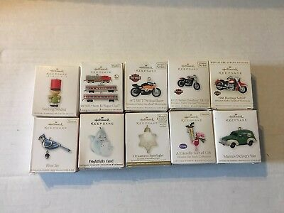 Hallmark  Miniature Ornaments 2009-2012 Lot of 10 Harley And More Lot 3