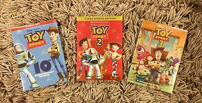 Toy Story 1, 2, and 3 Trilogy 3-DVD Bundle (BRAND NEW) Free First Class Shipping