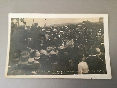 Visit Of Princess Marie Louise To Tipton Printed Postcard.published By W.j.l
