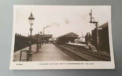 Staffordshire Tutbury Railway Station RP Postcard By Kingsway.Posted 1913