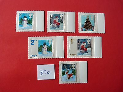 2006  CHRISTMAS S/A MNH STAMP SET with MARGINS cat£12.00
