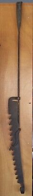 """Large Early Antique Primitive Wrought Iron Trammel 41"""" to 64"""""""