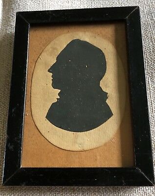 Antique Early 19C Framed Silhouette Of A Gentleman
