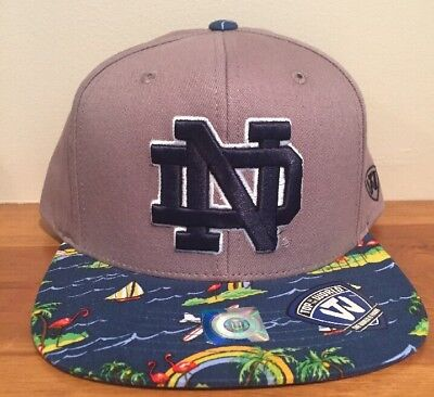 official photos 22cc6 6864d Notre Dame Fighting Irish Top of the World NCAA Shoreline Snapback Hat Cap  Sail