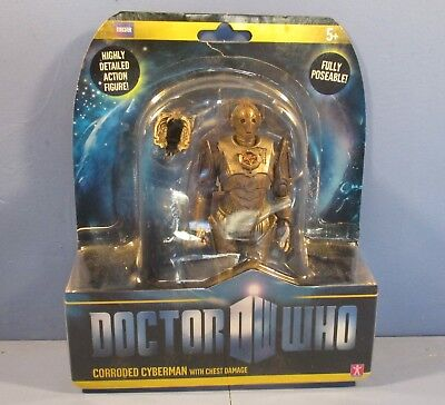 Doctor Who Corroded Cyberman with Chest Damage Figure New