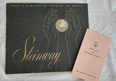 Steinway & Sons Sales Brochure & Price List - from Henry Bammann - Historic 1956