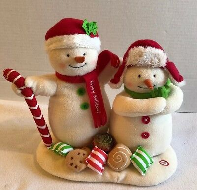Hallmark Jingle Pals 2008 Seasons Treatings Animated Musical Snowmen Candy Cane
