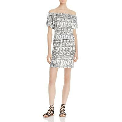 Soft Joie Womens Gray Knee-Length Off-The-Shoulder Casual Dress L BHFO 5429
