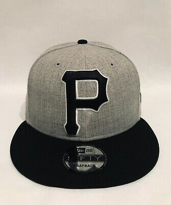 cab367876 New Era Pittsburgh Pirates Grand Big XL Logo 9FIFTY Snapback Hat Cap Gray  Black