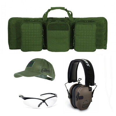 "VooDoo Tactical Padded Weapons Case (OD, 36"") and Walkers Shooting Range Bundle"